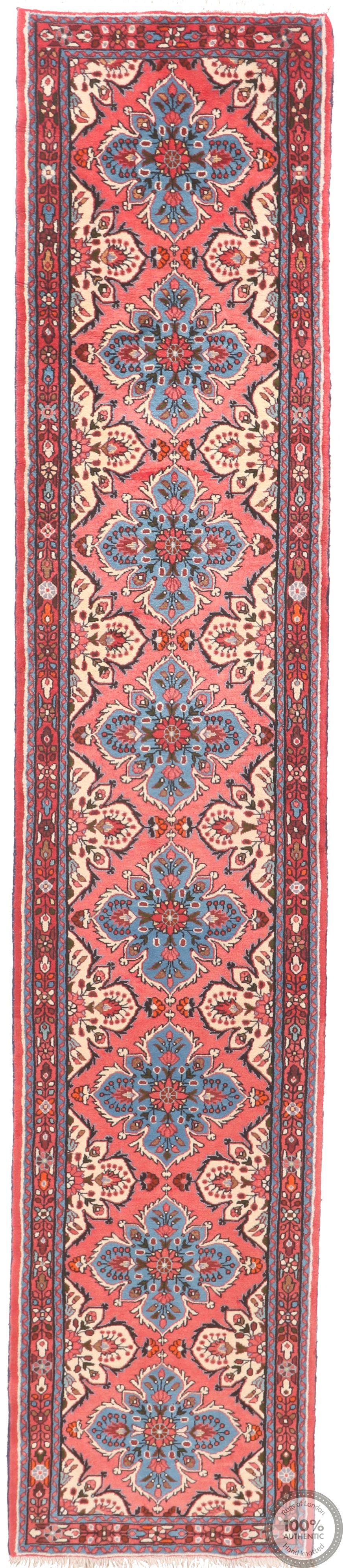 Persian Roodbar Runner - Pink - 14'1 x 2'7