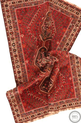 Persian nomadic shiraz rug red