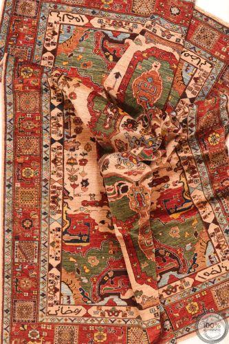Shirvan design rug green