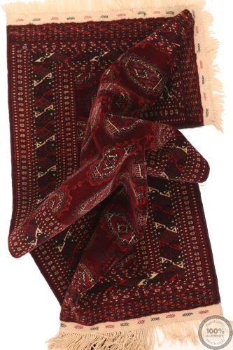 Bokhara Design Rug - Brown / Dark Red