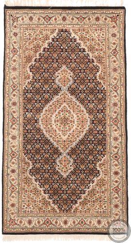 Tabriz Mahi Indian rug - Brown/Beige Medallion Wool & Silk