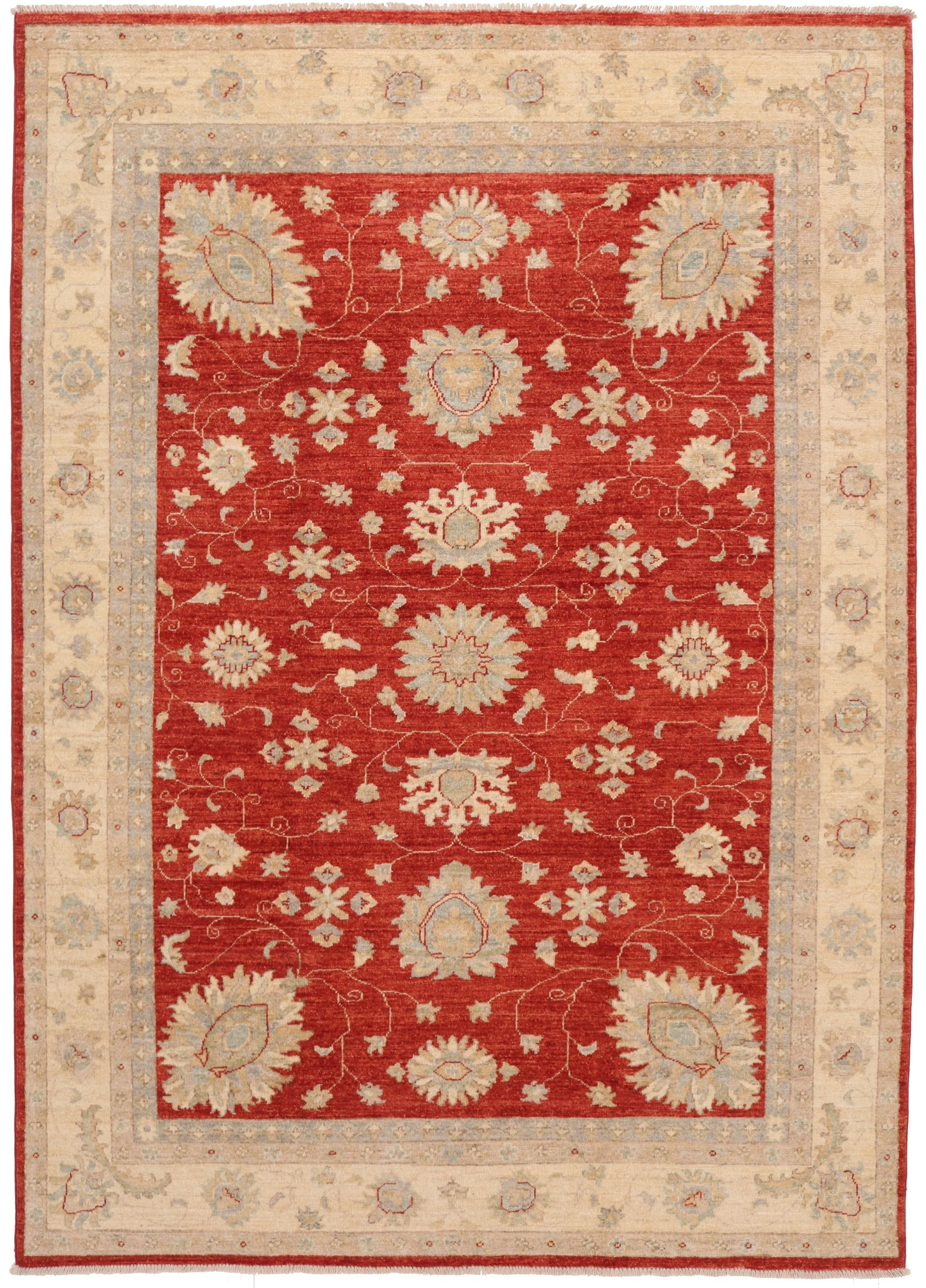 Garous / Ziegler design Rug in Red 8 x 5'6