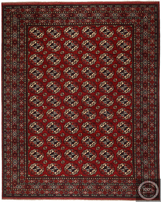 Ersari Design Afghan Rug Deep Red