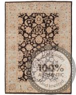Garous Ziegler design rug - Dark Brown & Beige - front view