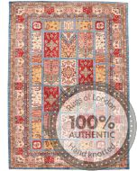Multicolored Caucasian Kazak design Rug - 9'63 x 6'88