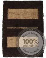 Persian Gabbeh Modern Rug - Beige and Brown