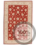 Red Base Garous / Ziegler Design Rug - 10 x 6'56