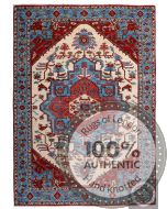 Garous Ziegler design rug 7'9 x 5'6