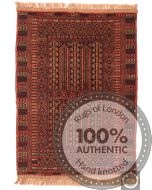 Balouch Baloch Rug Red - front view