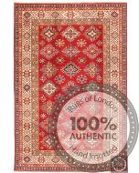 Caucasian Kazak design rug with red