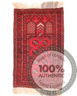 Turkmen design rug red