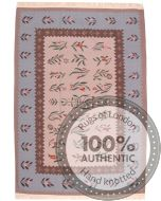 Bessarabian design kilim pink - 9'2 x 6'6