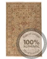 Fine Garous Ziegler Design Indian Rug Brown - front view