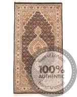 Tabriz Mahi Indian rug - Brown - front view
