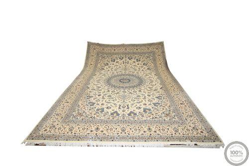 Persian Nain 9La with silk highlights - 19'4 x 12'8