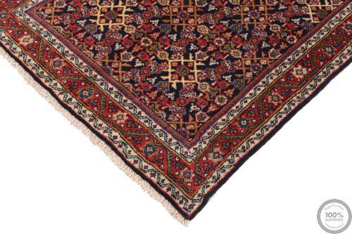 Persian Meshgabad runner rug red - Circa 1940 side