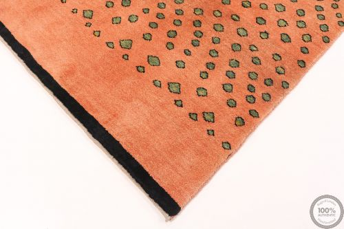 Gabbeh Orange With Green Motives