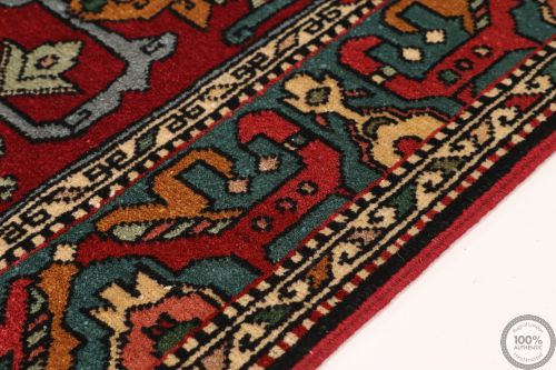 Caucasian Kazak Design Rug in Red - side