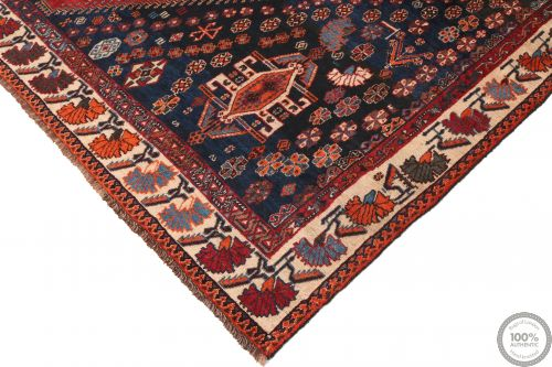 Biliverdi / Kashgai Design Rug - Red