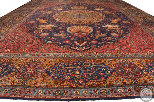Antique Persian Tabriz Rug - 17'3 x 12'8