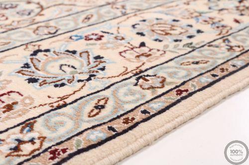 Nain 6la rug with silk highlights - 6'6 x 6'3