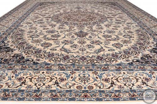 PERSIAN NAIN 9La RUG WITH SILK HIGHLIGHTS - 14'5 x 10'6