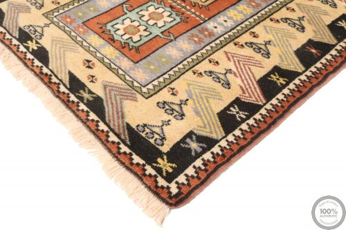 Persian Balouch Rug Yellow / Orange / Black Border - corner