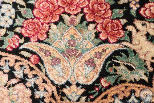 Qum Floral design rug signed by Majlohi