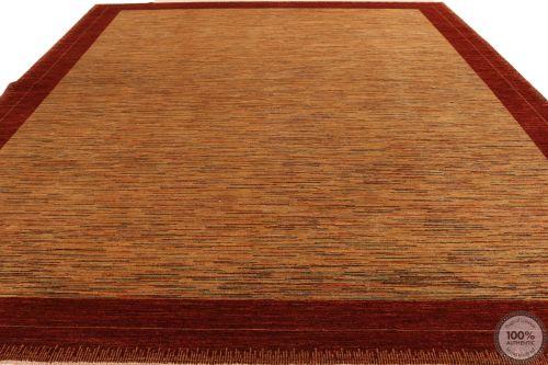 Garous Modern / Ziegler Design Rug - Beige Background / Red Borders - flat