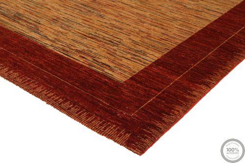 Garous Modern / Ziegler Design Rug - Beige Background / Red Borders - corner