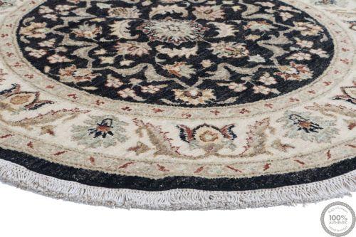 Garous Ziegler design circular rug - Black 3'97 x 3'97