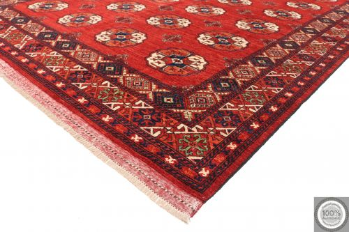 Ersari design Afghan Rug - Bright Red