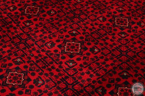 Khal Mohammad Afghan rug in Red