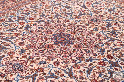 Persian Kashan Rug Beige - 11' x 8'1