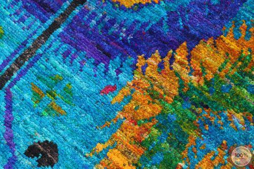Sari Silk blue rug - 7'8 x 5'5