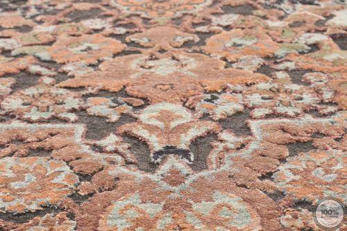 Polonaise Design Rug, Part Silk - 8' x 5'4