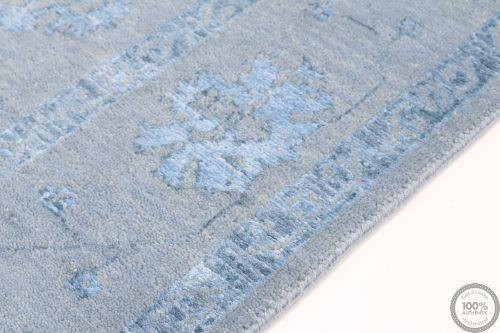 Garous Ziegler design rug with part silk 7'9 x 5'1