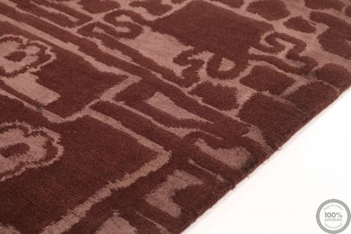 Modern Himalaya  part silk Brown - angle