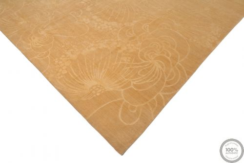 Modern Part Silk Rug - 14'2 x 10'1