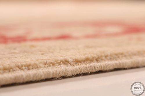 Garous Ziegler beige rug red border
