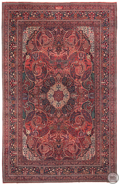 Antique Persian Dorokhsh Rug - 18'5 x 11'81