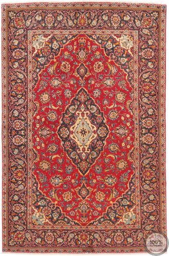 Persian Keshan / Kashan Rug - Bright Red / Dark Red - front view