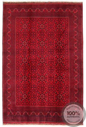 Khal Mohammad Afghan rug - Red