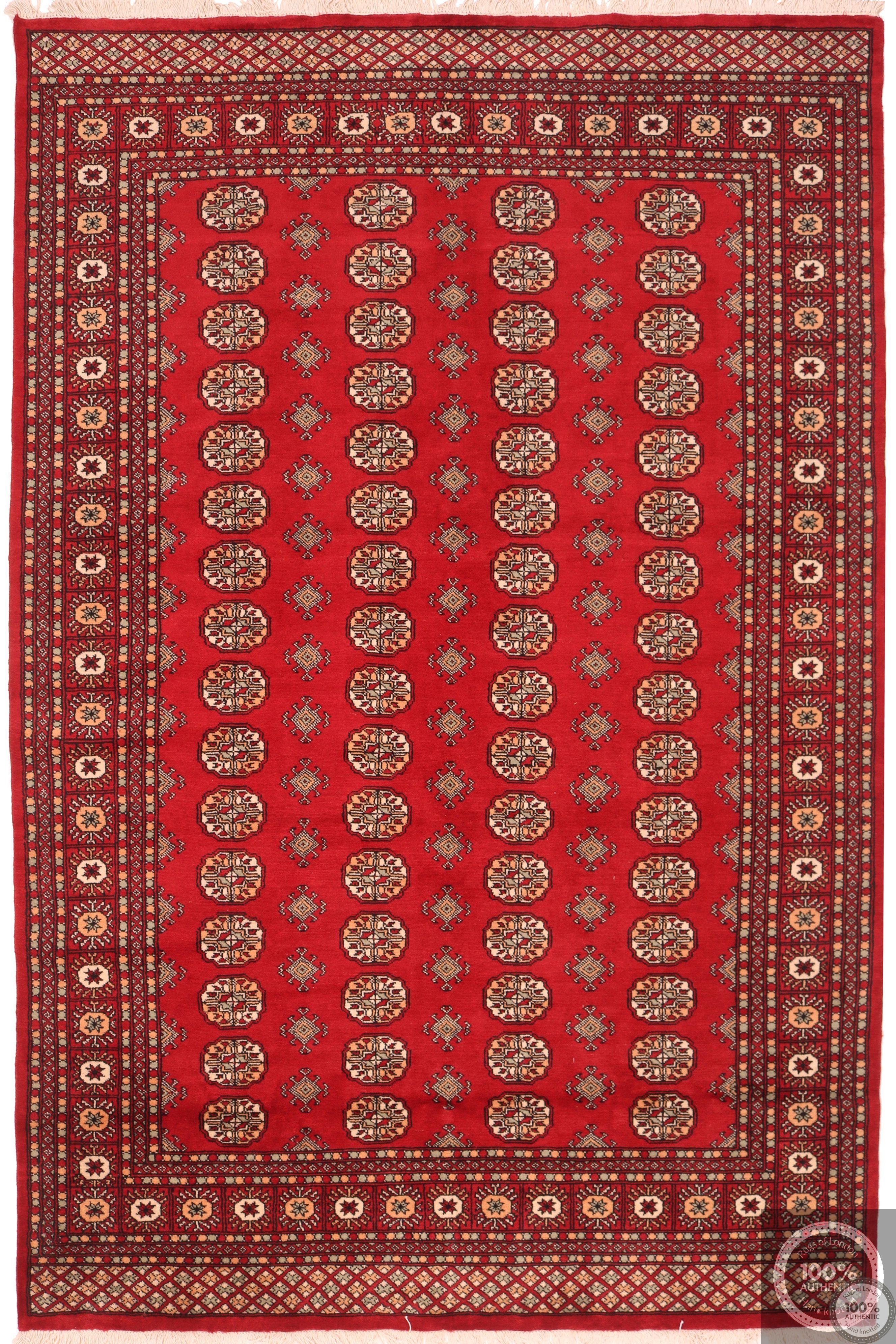 Bokhara design rug - red