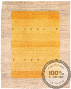 Gabbeh Rug - Beige and Yellow front