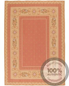 Pink Aubusson Design 7'8 x 5'5