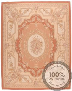 Pink Aubusson Design 53 - 12'3 x 8