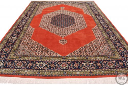 Persian Heriz rug - Blue Medallion Pure Wool - flat