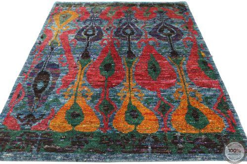 Sari Silk rug - 7'9 x 5'2