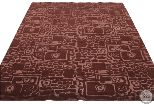 Modern Himalaya  part silk Brown - flat